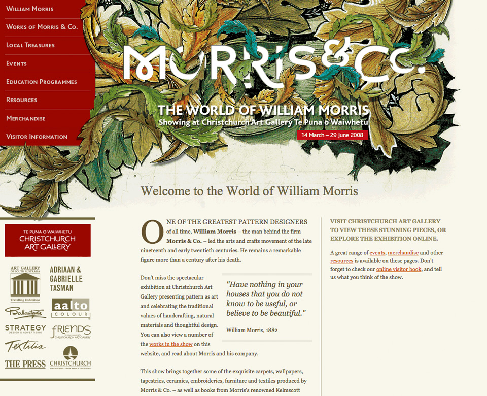 William Morris website